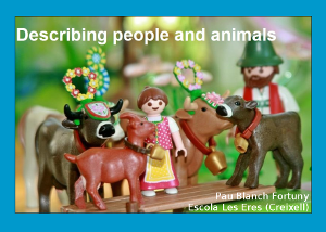 Descriving people and animals